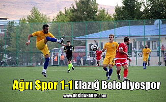 Ağrı Spor 1-1 Elazığ Belediyespor