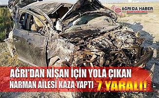 Ağrı'dan Antalya'ya Nişana Giden Aile Kaza Yaptı : 7 Yaralı