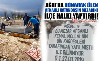 Taşlıçay'da Donarak Ölen Afgan Adamın Mezarını İlçe Halkı Yaptırdı!