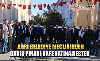 Ağrı Belediye Meclis Üyeleri Barış Pınarı Harekatını Destekliyoruz