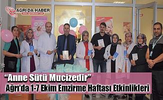 """Ağrı'da 1-7 Ekim Emzirme Haftası Etkinliği  """"Anne Sütü Mucizedir"""""""