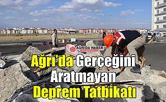 Ağrı'da Gerçeğini Aratmayan Deprem Tatbikatı!