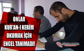 Ağrı'da Görme Engelli Vatandaşlar kabartma (Braille) alfabesiyle Kur'an-ı Kerim Hatmetti