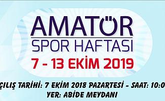 Ağrı'da 7-13 Ekim 2019 Amatör Spor Haftası Etkinlikleri Yapılacak