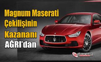 Magnum MaseratiÇekilişi Talihlisi Ağrıdan Emrah Kılıç oldu