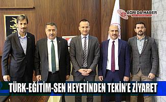 Türk Eğitim Sen'den Ağrı Milli Eğitim Müdürü Mehmet Faruk Tekin'e ziyaret