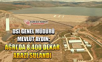 Ağrı'da 8400 Dekar Tarım Arazisi Sulandı