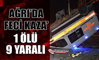 Ağrı'da Ambulans ile otomobil çarpıştı: Bir ölü 9 yaralı