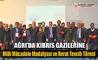 Ağrı'da Kıbrıs Gazilerimiz İçin Milli Mücadele Madalyası Töreni Düzenlendi