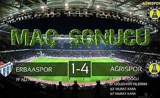 Ağrı Spor Deplasmanda Erba Spor'u 4-1 Yendi