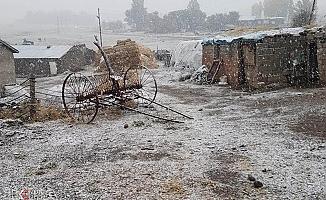 Ağrı Tendürek Geçidi Yoğun Kar Yağışından Etkilendi!