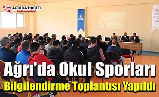 Ağrı'da Okul Sporları Bilgilendirme Toplantısı Yapıldı