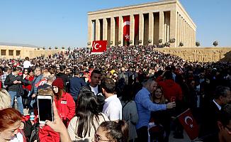 Binlerce Kişi Anıtkabir'de!