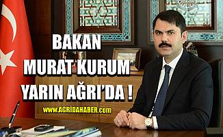Çevre ve şehircilik Bakanı Murat Kurum Ağrı'ya Geliyor
