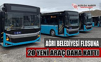 Ağrı Belediyesi Yeni Yıla girerken 20 Otobüs Daha Aldı