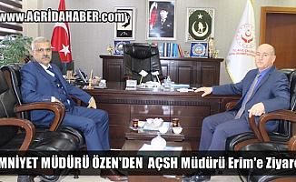 Ağrı Emniyet Müdürü Nihat Özen'den Mehmetşafi Erim'e Ziyaret