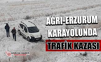 Ağrı-Erzurum Karayolu'nda Kar Yağışı! Onlarca Araç Kaza Yaptı