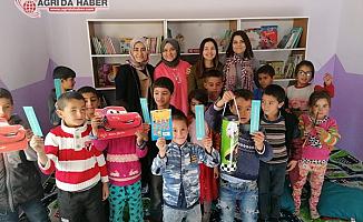 Hamur'da Anasınıfı ve Kütüphane açılışı