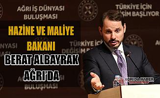 Hazine ve Maliye Bakanı Berat Albayrak Ağrı'da