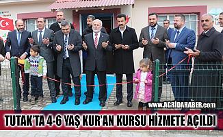 Tutak'ta 4-6 Yaş Gönül Bahçesi Kur'an Kursu Hizmete Açıldı