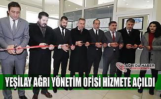 Yeşilay Ağrı Şubesi Ofisi Hizmete Açıldı