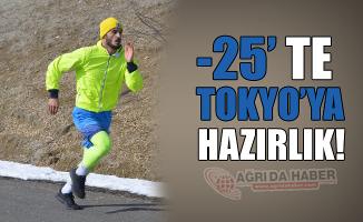 Ağrı'lı Sporcular -25 Derecede Tokyo olimpiyatlarına Hazırlanıyor