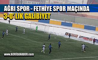Ağrı 1970 Spor-Fethiye Spor maçında 3-0 Galip geldi