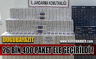 Ağrı'da Derede Gizlenmiş 26 Bin 400 paket kaçak sigara Ele Geçirildi