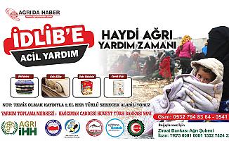 Ağrı'daki STK'lar İdlib için yardım çalışması başlattı