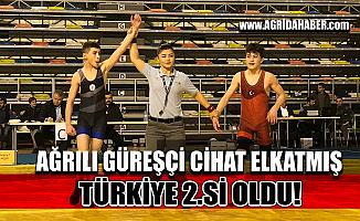 Ağrı'lı Güreşçi Cihat Elkatmış Türkiye 2.si Oldu