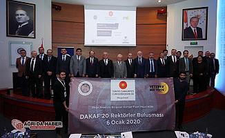 AİÇÜ Rektörü Prof. Dr. KARABULUT, DAKAF'20 Toplantısına Katıldı