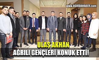 Bursa Büyükşehir Belediyesi Genel Sekreteri Akhan Ağrılı Gençleri Ağırladı