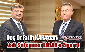 Halk Sağlığı Genel Müdürü Doç.Dr.Fatih KARA Ağrı'da