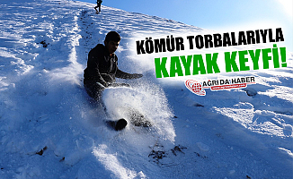 Kömür Torbalarıyla Kayak Keyfi!