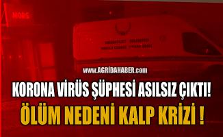 Ağrı'da Koronavirüs iddiası asılsız çıktı! Ölüm Nedeni Kalp Krizi