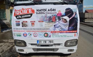 Ağrı'dan İdlib'e yardım TIR'ı yola çıktı