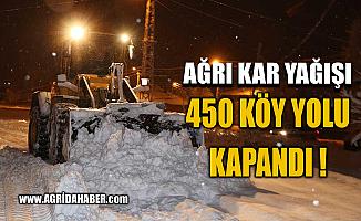 Ağrı'da kar nedeniyle 450 köy yolu ulaşıma kapandı