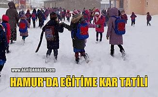 Hamur'ta Eğitime Kar Tatili