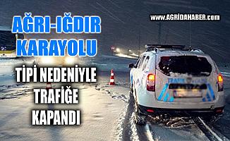 Iğdır-Ağrı yolu kar yağışı nedeniyle ulaşıma kapandı