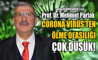"""Prof. Dr. Mehmet Parlak: """"İnsanların Corona virüs'ten ölme olasılığı çok düşük"""""""