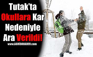 Tutak'ta Okullara Kar Nedeniyle Ara Verildi!