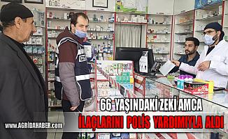 Ağrı'da Yaşlı Amcanın ilaçları Polis Eşliğinde Alındı