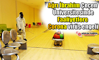 Ağrı İbrahim Çeçen Üniversitesindeki Faaliyetlere Corona virüs engeli