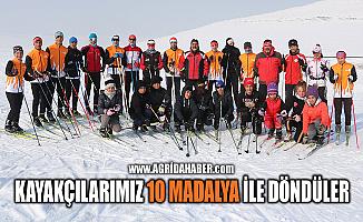 Ağrı'lı Kayakçılar Erzurum'dan 10 Madalya ile Döndüler