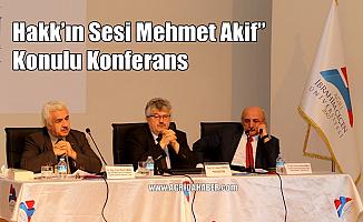 AİÇÜ'de Hakk'ın Sesi Mehmet Akif Ersoy Konulu Konferans Düzenlendi