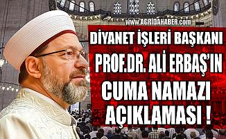 Diyanet İşleri Başkanı Prof. Dr. Ali Erbaş'ın Cuma Namazı Açıklaması