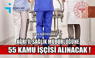 İŞKUR'dan Açıklama; Ağrı İl Sağlık Müdürlüğü'ne 55 işçi alınacak