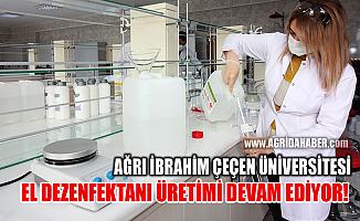 Ağrı İbrahim Çeçen Üniversitesi El Dezenfektanı Üretimi Devam Ediyor
