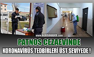 Ağrı Patnos'taki cezaevinde koronavirüs tedbirleri en üst düzeyde