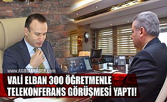 Ağrı Valisi Süleyman Elban e-Konferans yoluyla bin 300 öğretmene seslendi